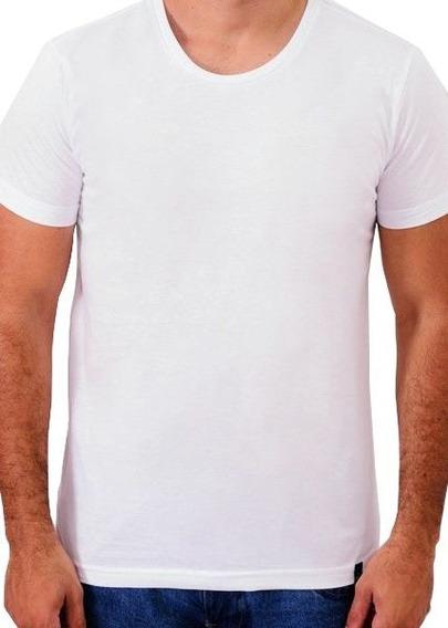 Camiseta Mascolina Básica 100% Algodão Branca Cool Wave
