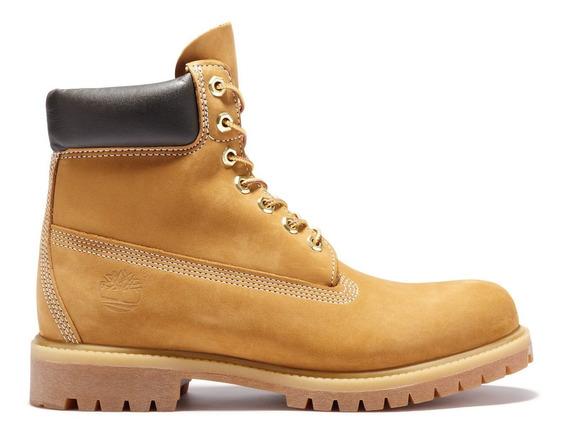 Timberland 6 Inch Premium Boot - Cuero Nobuk Amarillo Hombre