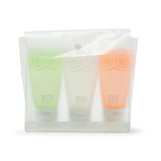 Frasco Pote Silicone Shampoo Creme Luxo Viagem Avião 3x83ml