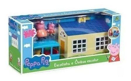 Peppa Pig - Escolinha E Ônibus Escolar - Dtc 4858 - 12x S/js