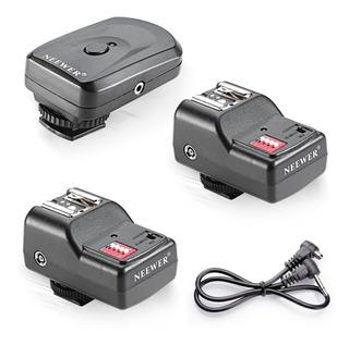 Radio Trasmisor Con 2 Receptores Para Flash Nikon Canon Sony