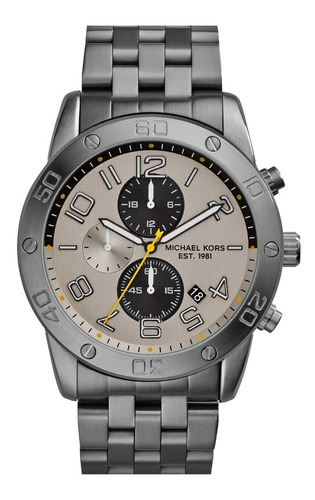 Relógio Michael Kors Mk8349 Mercer Orig Chron Anal Gray