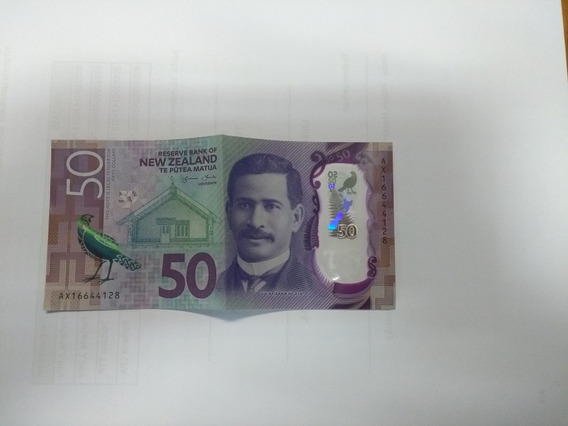 Nota 50 Dolares Da Nova Zelândia Em Polímero