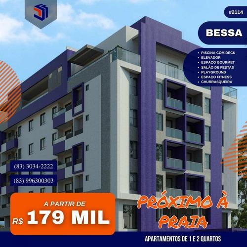 Imagem 1 de 9 de Apartamento Para Venda Em João Pessoa, Bessa, 1 Dormitório, 1 Suíte, 1 Banheiro, 1 Vaga - 2114_1-1941399