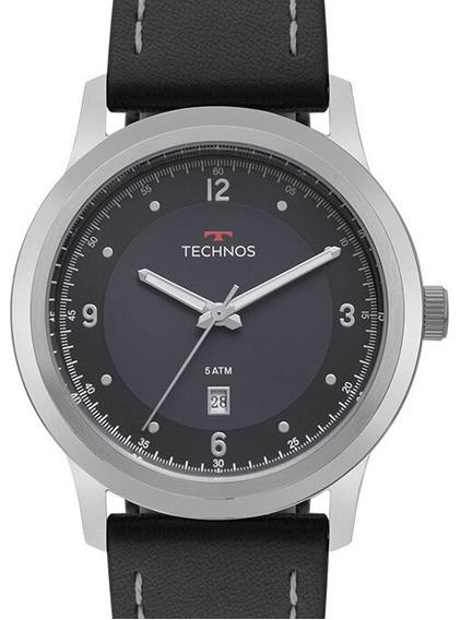 Relógio Technos Masculino Couro Grande