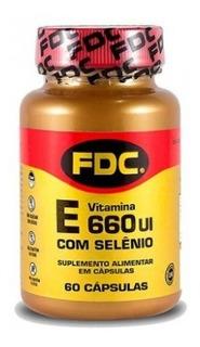 Vitamina E 660ui + Selênio 100mg Fdc 60 Cápsulas