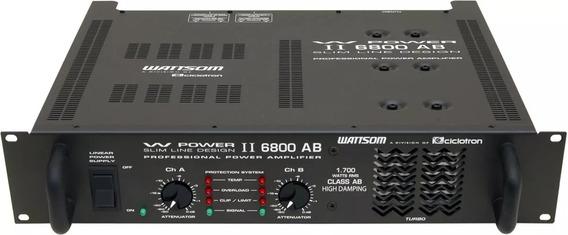 Ciclotron W Power 6800 Ab Potência Amplif. Ponta De Estoq