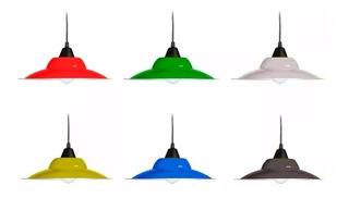 Lampara De Techo Chapa Deco Apto Led Consultar Colores!!