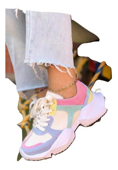 Zapatos De Dama Doble Piso Suela Alta Colombianos