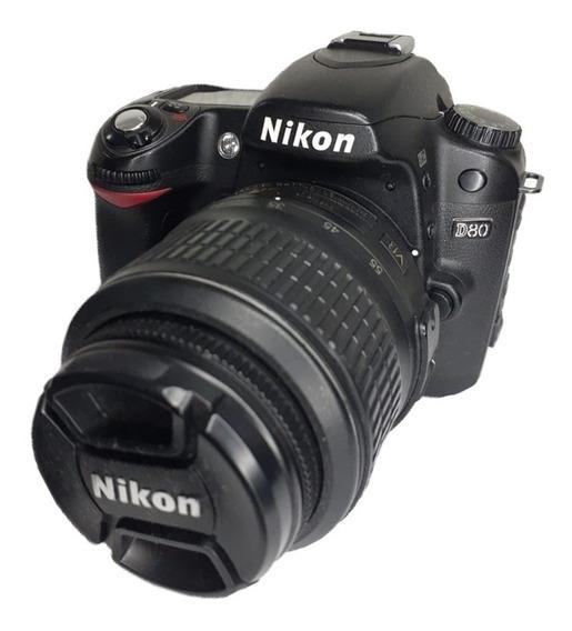 Câmera Nikon D80 Seminova Impecável + Lente 18-55mm