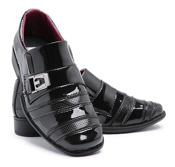 Sapato Social Infantil Brilho Leve Calçado Elástico Luxo 443