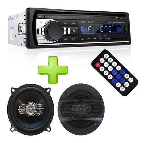 Combo Stereo Bluetooth Usb Mp3 Fm + Juego De Parlantes