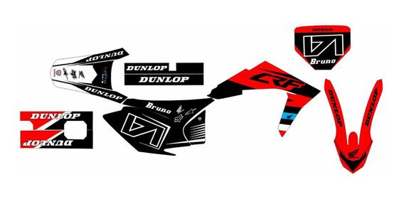 Kit Gráfico Crf 2015 Com Aletas Biker 0.2mm