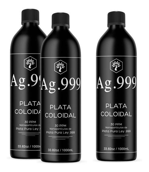 Plata Coloidal 3 Litros Envío Gratis 30 Ppm Certificado .999