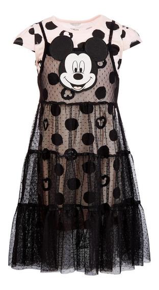 Vestido Mickey Mouse Disney 6 Años.·:*¨¨*:·.original Hermoso