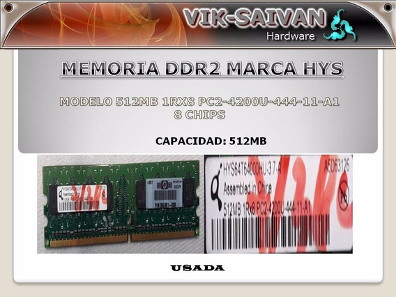 Memoria Ddr2 Hys 512mb Pc2-4200 533mhz 8 Chips 36