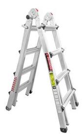 Escalera Aluminio Multiposiciones Profesional 2.85m Peldaños