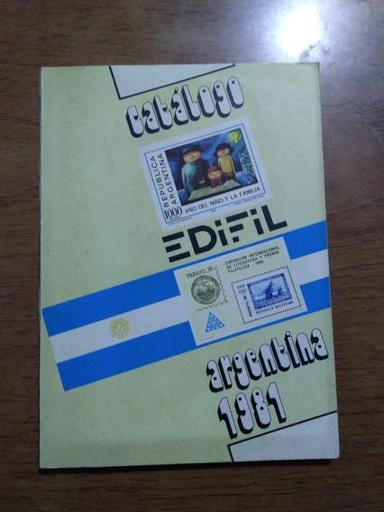 Catalogo Edifil Argentina 1981 Estampillas Filatelia