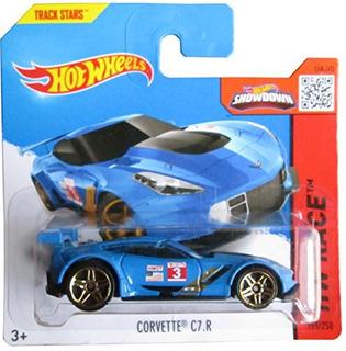 Hot Wheels Hw Race 155250 Corvette C7r (azul) En Una Tarjeta