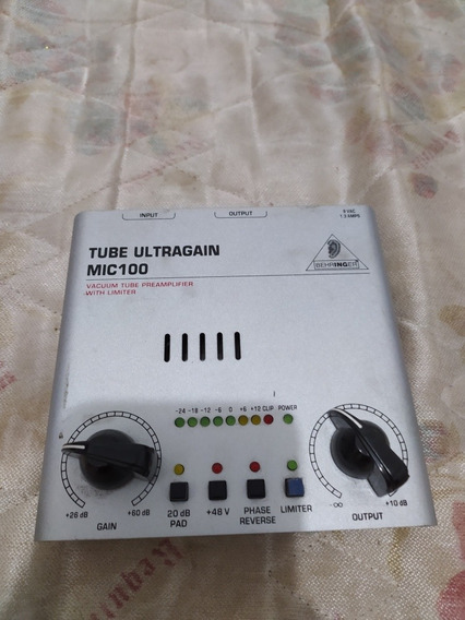 Pré Amplificador Tube Ultragain Mic100