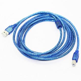 Cable Usb 2.0 Para Impresora Mallado Con Filtro 5 Metros