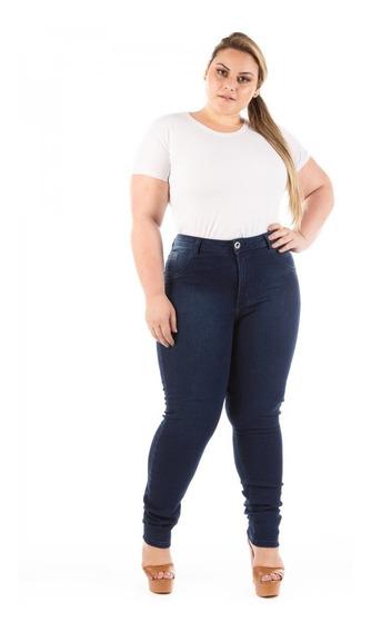 Calça Jeans Feminina Legging Cintura Alta Plus Size Caj220