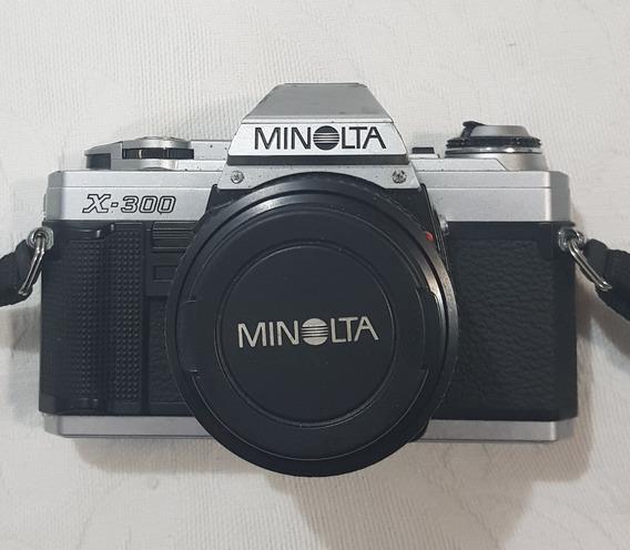 Camera Minolta X-300 Analógica Md50mm Flash Panasonic 201c