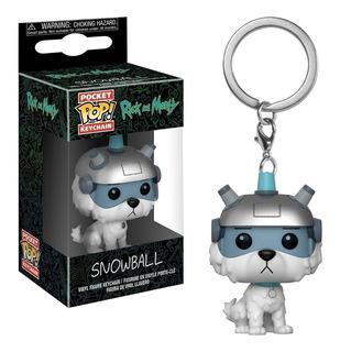 Pocket Funko Keychain Snowball Rick And Morty