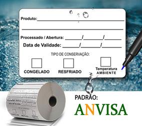 Etiqueta Bopp Data Validade 60x40 Comida Congelada Anvisa Az