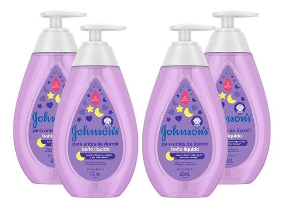 Kit C/ 4 Sabonetes Líquidos Johnsons Baby Hora Do Sono 400ml