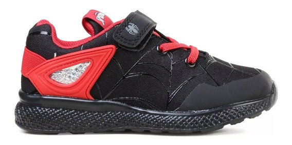 Zapatillas Spiderman Marvel Negras/rojas Fty Calzados