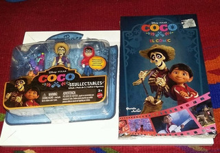 Coco 3 Pack Pixar Disney + Libro Comic Coco A Todo Color