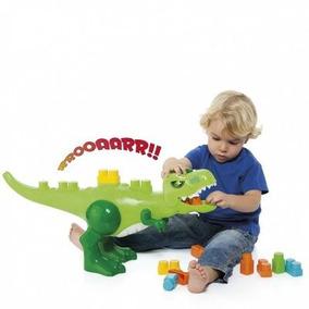 Dinossauro Com 30 Blocos Baby Land Brinquedos Cardoso Toys
