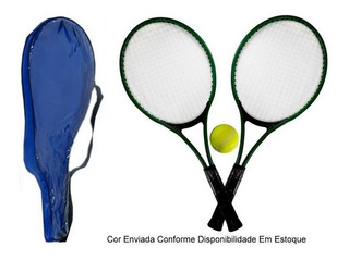 04 Kit Com 2 Raquetes De Tênis Acompanha 1 Bola De Tênis