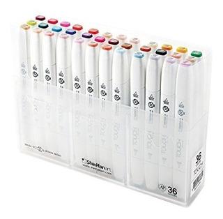 Shinhan Art Touch Twin Brush Marker Set B, Brochas De Punta