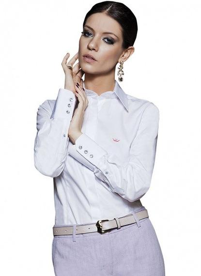 Blusa Social Branca Feminina Principessa Diane