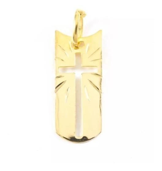 Pingente Crucifixo Semijoia Folheado Ouro 18k