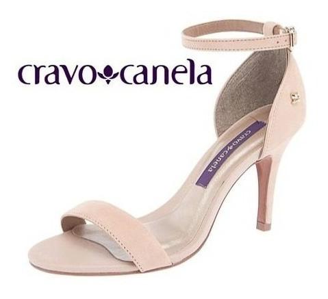 Sandália Nude Salto Fino Cravo & Canela 143702-1