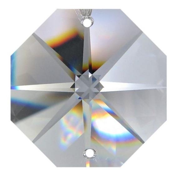 200 Castanha De Cristal Italiana K9 + 200 Argola Aço Inox
