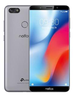 Celular Smartphone Neffos C9 5.99 Pulgadas 4g Gris Nublado