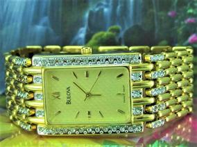 Relógio Bulova 98a57 Serie Especial Banho Ouro, Swarovski