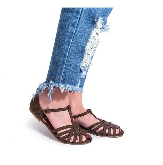 Zapatos Estilo Sandalia De Dama Comodas Brown Charlotte