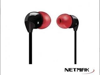 Auricular In Ear 3,5mm Plano Red - Aj Hogar