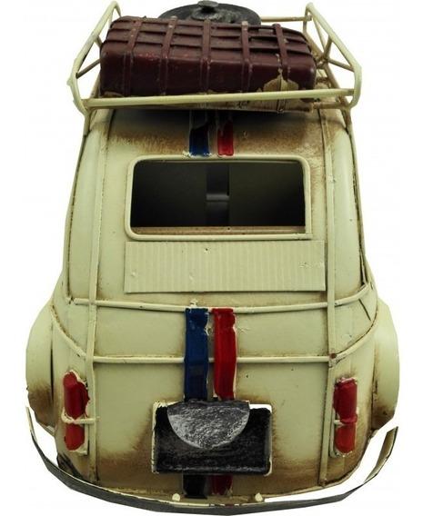Auto Fiat 600 Replica Escala Porta Equip 26.5 X 14 X 13 Cm