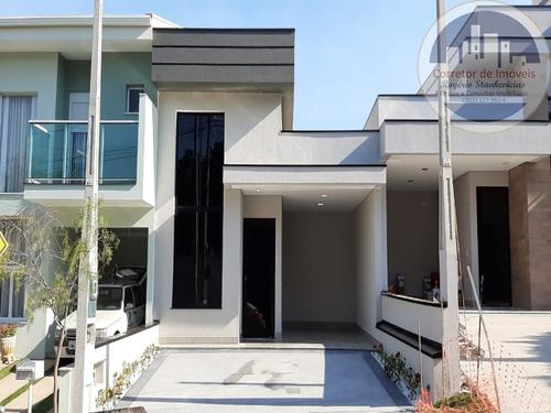 Casa Nova No Condominio Vista Verde Em Indaiatuba Com 3 Dormitorios Sendo 1 Suite - Ca00068 - 68198466