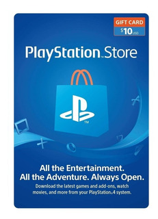 Tarjeta Playstation Store $10 Región Usa Ps3 Ps4 Psn