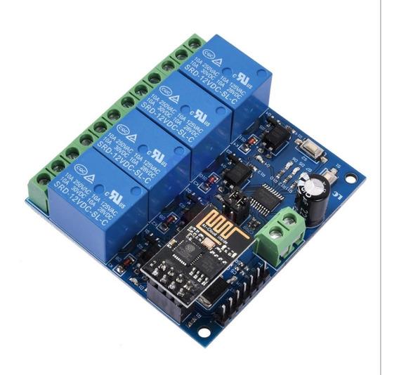 Modulo Relê Wifi 4 Canais Esp8266, Esp01 Esp8266 Incluso