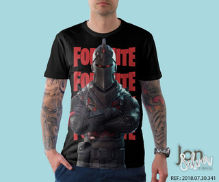 Camisa Camiseta Fortnite Cavaleiro Negro Game Gamer Hd