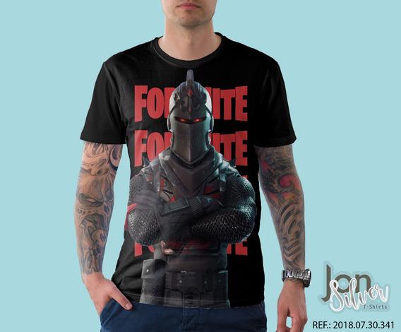 Camisa Camiseta Fortnite Cavaleiro Negro Game Gamer Hd