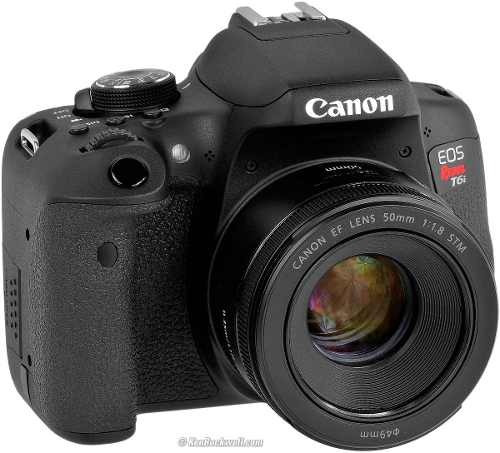 Camera Canon Eos Rebel T6i Dslr Com Lente 18-55mm Is Stm